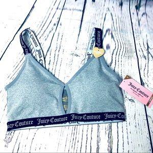 Juicy Couture Keyhole Sports Bra Bralette Grey S